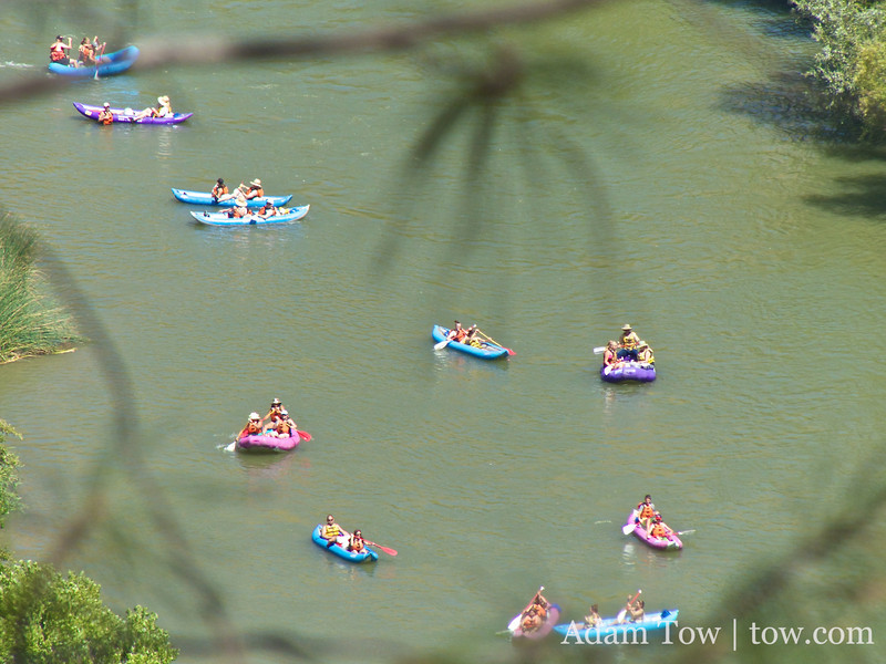 Kayakers on the river.