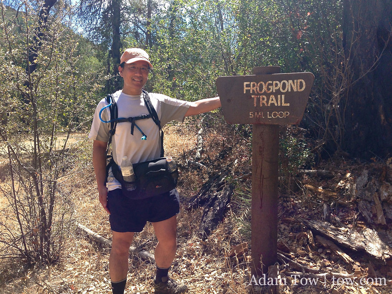 At the Frog Pond trailhead after our hike.