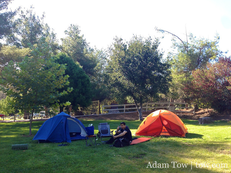 Our camp site at Cache Creek Regional Park.