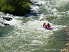 Rafting down the river.
