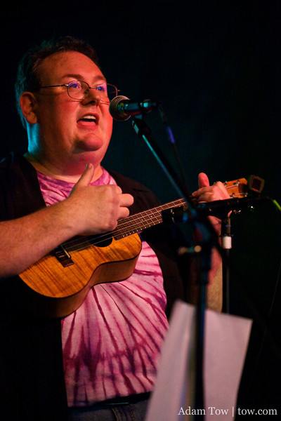 James Dempsey plays the ukulele during The Liki Song