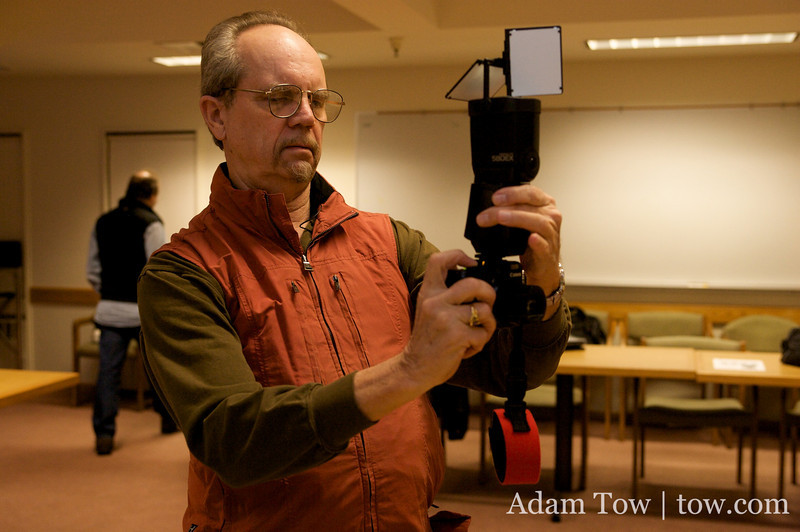 David Blanchard shows off his new gadget, the Ultimate Lightbox System.