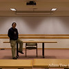 This was a familar site at COBA meetings for the past 2.5 years. Adam in the front of Cordura Hall Room 100.