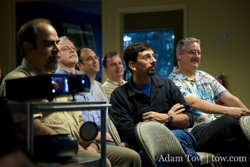 COBA members listen during Adam's presentation on COBA's past meetings.