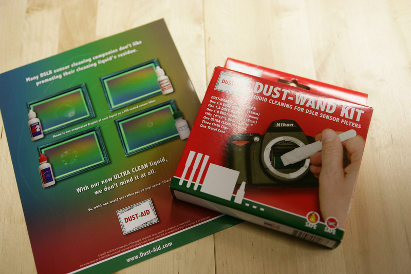 DustAid flyers and packaging