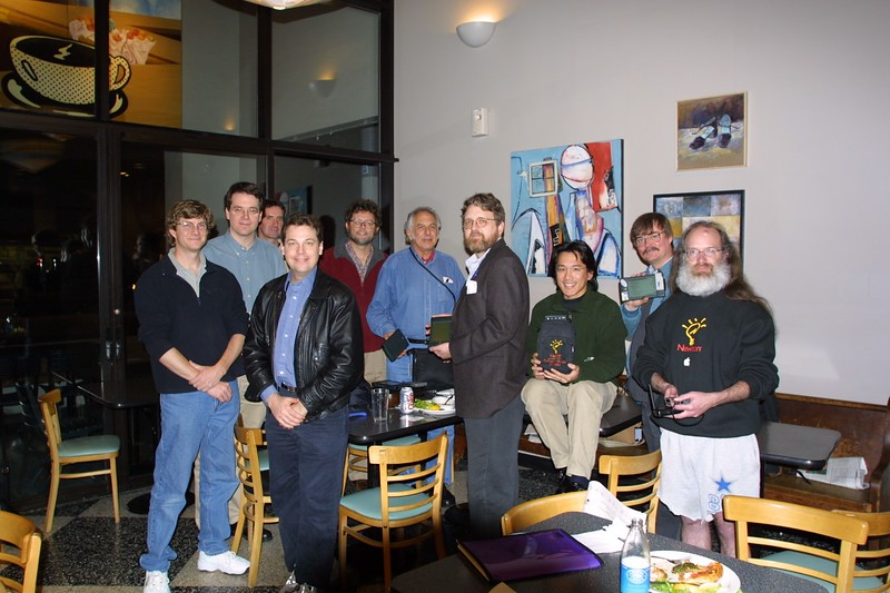 The group photo at the 7th Anniversary Stanford Newton User Group meeting.