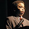 "Griffith Thomas Elementary fourth grader Will Nicholson speaks about ""The Doors King Could Find Ajar Today"" during the Dublin Community Rememberance celebration of Dr. Martin Luther King, Jr. at Dublin Jerome High School on Monday."