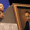 Beechcroft senior Janae Lawson speaks at the 23rd annual Dr. Martin Luther King Jr. Birthday Breakfast Celebration on Monday at the Columbus Convention Center.