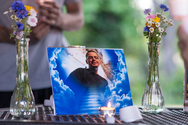 Friends and Family honor the memory of Austin Lujan, who died in a car accident on Monday. The gathering was held at High Adventure Park in Ogden on June 22, 2017.