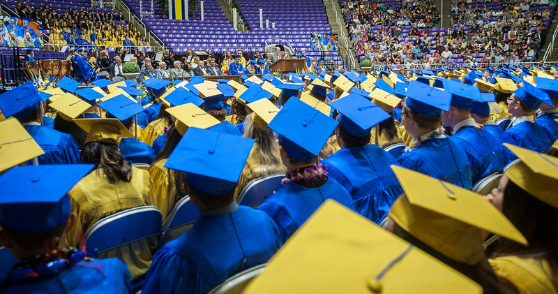Bonneville High School class of 2017 graduates on Monday at the Dee Events Center in Ogden on May 22, 2017.