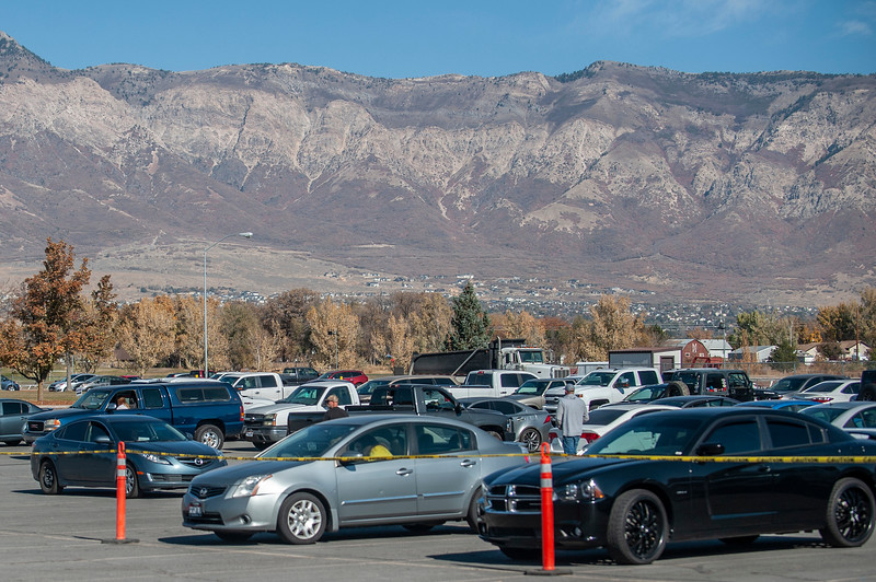 Election Day voting takes place at the Weber County Fairgrounds, on November 3, 2020, in Ogden.