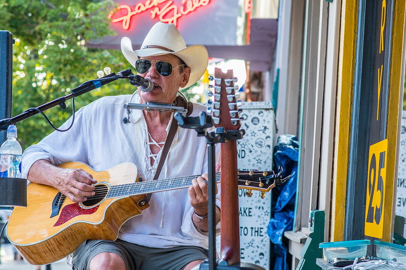 John Burrows performs his album The Perfect Storm during the First Friday Art Stroll in Ogden on Friday August 4, 2017.