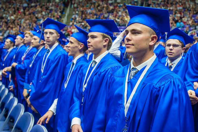 Fremont High School class of 2017 graduates on Monday at the Dee Events Center in Ogden on May 22, 2017.