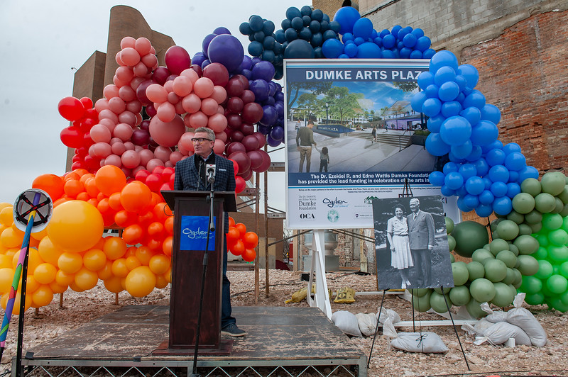 The city is building a new arts plaza downtown near The Monarch building. It's expected to be finished around October. In Ogden, On Febuary 26, 2021.