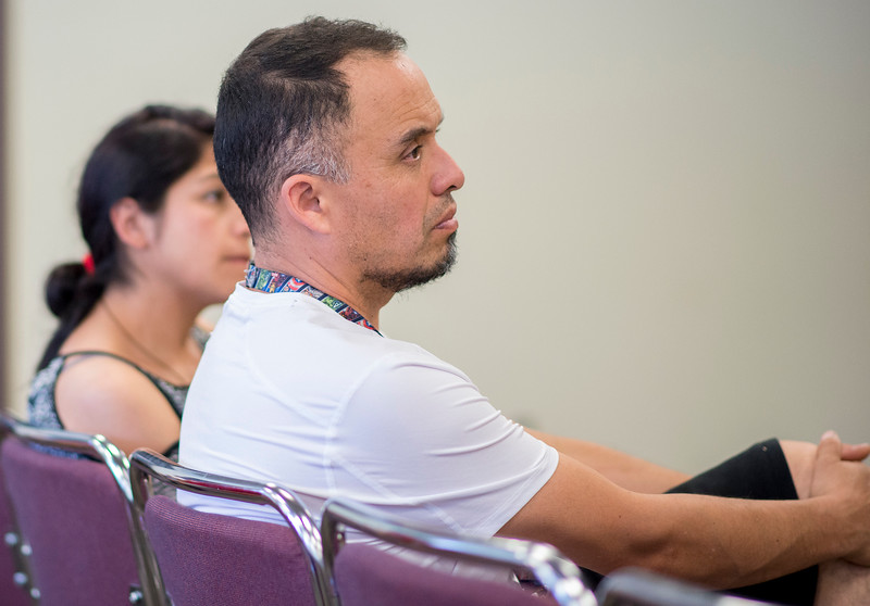 immigrant advocates talk to City Leaders about  talk in the Trump administration against the latino population. At St Joseph Catholic Church Education Center in Ogden on June 17, 2017.