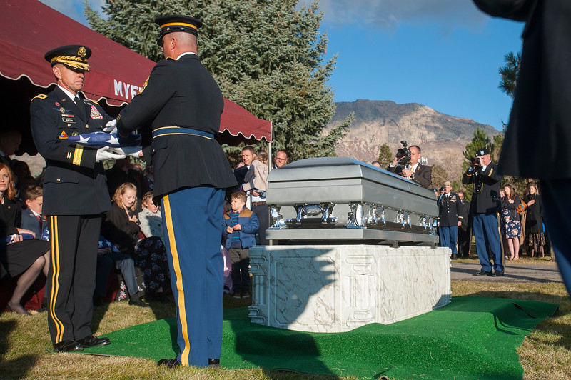 Brent Taylor's family and the North Ogden community paid their final respects, on Saturday, Nov 17, 2018, at the Ben Lomond Cemetery in North Ogden.