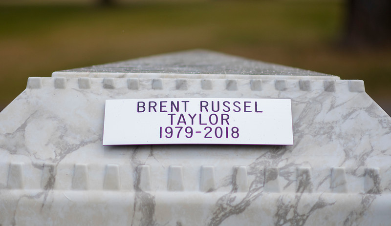 North Ogden residents paid their final respects to Maj. Brent R. Taylor, on Saturday, Nov 17, 2018, at the Ben Lomond Cemetery in North Ogden.