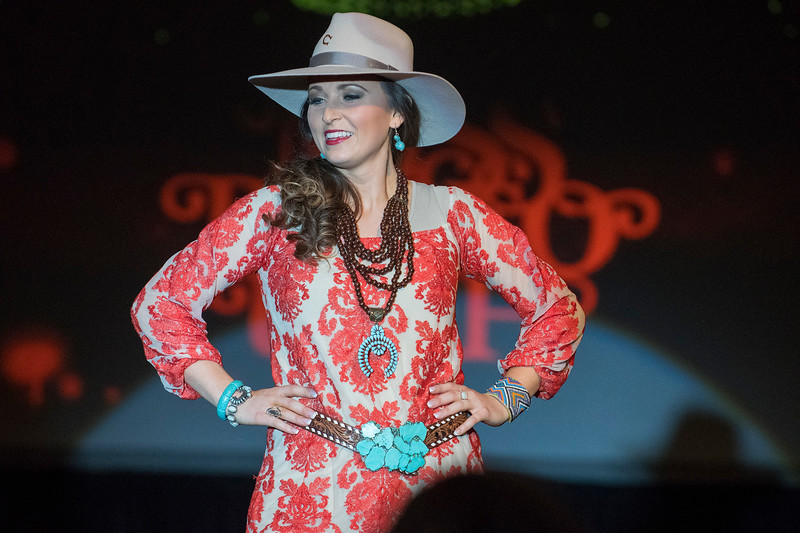 Shianne Lowe participates in the 2018 Miss Rodeo Utah fashion show. She shows off all different types of outfits, at the Ogden Eccles Conference Center, on Saturday July 22, 2017.