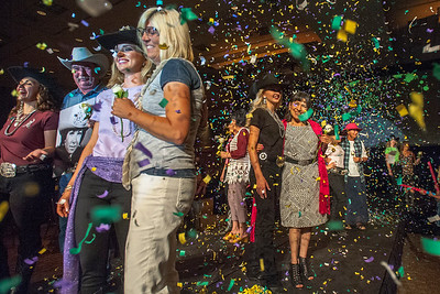 Miss Rodeo Utah contestants pay tribute to cancer survivors and those who have fallen to the disease during the fashion show at the Ogden Eccles Conference Center, on Saturday July 22, 2017.