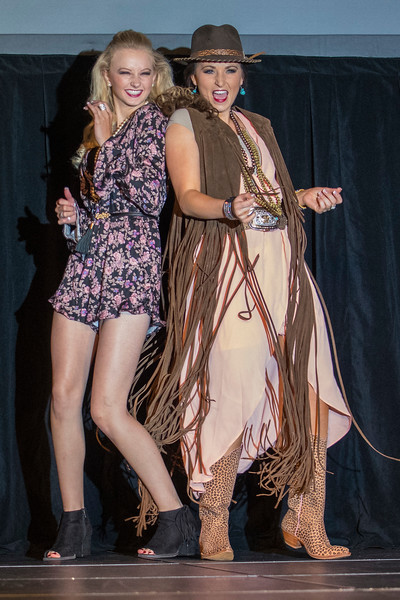Participants of the 2018 Miss Rodeo Utah put on a fashion show for a crowd at the Ogden Eccles Conference Center, on Saturday July 22, 2017.