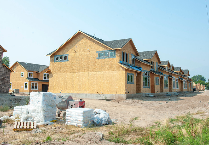 New construction near 2nd and wall in Ogden. On Monday August 16, 2021.
