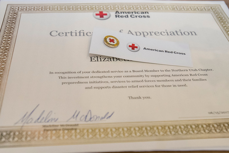 Northern Utah American Red Cross holds the annual celebration honoring members of the community for their commitment to helping others at the Arbor Lodge in Eden on June 15, 2017.
