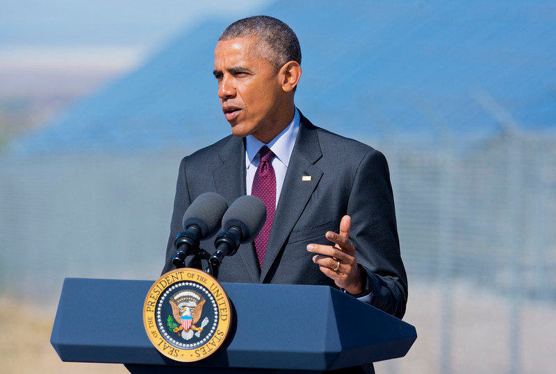 Barack Obama makes his first trip to Utah since he was elected in 2008. He held a speech about clean-energy and the economy. At Hill Air force Base in Layton on April 3, 2015.