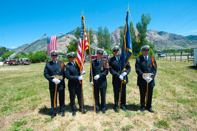 Ogden City Fire Department break ground on the brand new Fire Station being built in North Ogden. The ceremony took place on Monday, July 20, 2015 in North Ogden.