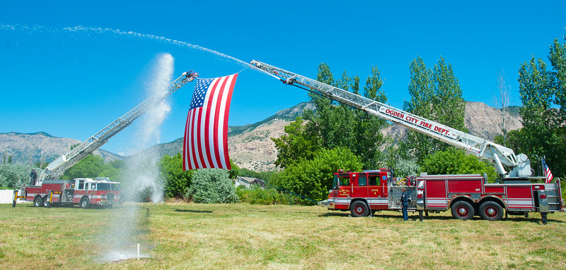 Ogden City Fire Departmen break ground on the brand new Fire Station being built in North Ogden. The ceremony took place on Monday, July 20, 2015 in North Ogden.