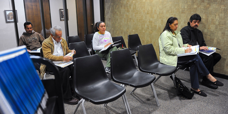 A group of people gather at the Weber County Library to take free english classes. In Ogden, on November 30 2013. (Brian Wolfer Special to the Standard-Examiner)