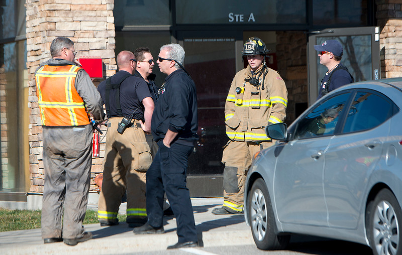 Layton fire fighters are dispatched to a gas leak. In Layton on March ,9 2015.