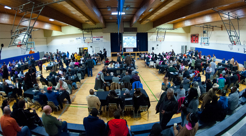 The Ogden community gathers at the Marshall White Center to celebrate Martin Luther King and his dream for everyone to be equal. In Ogden. January 20 2014. (Brian Wolfer Special to the Standard-Examiner)