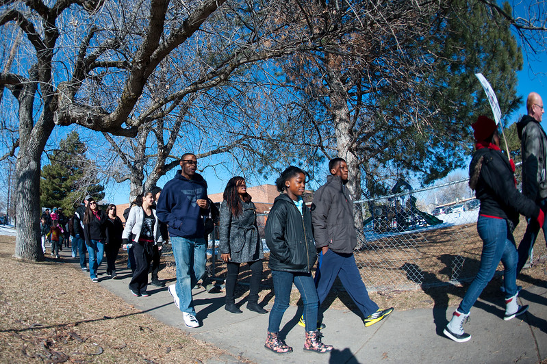 Marshall White Center hosts a breakfast and then takes to streets to march for People of all races and backgrounds participates in the days events. In Ogden. January 20 2014. (Brian Wolfer Special to the Standard-Examiner)