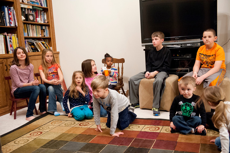 Mother of the Year Jan Zogmaister reads to all her grandchildren. She has over 21 of them. She stays busy with the family stoping by for dinner and entertainment. In West Haven on February 24, 2015.