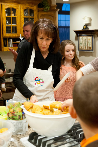 Jan Zogmaister has been named as Utah State Mother of the Year. She makes a meal and plans activity for family home evening Monday. In West Haven on February 24, 2015.