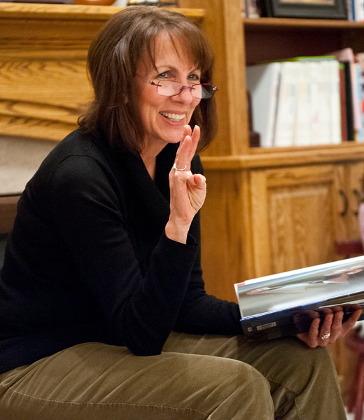 Weber County Mother of the Year, Jan Zogmaister reads to most of her grandchildren. She gives them a lesson on american history during monday family home evening. In West Haven on February 24, 2015.