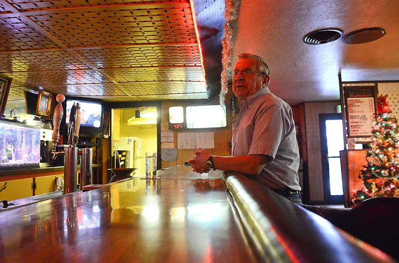 """Ted Clark has been coming to the Old Man Saloon for 30 years. He compares it to the TV show """"Cheers"""", a place where everyone knows your name. In Ogden, On December 20 2013. (Brian Wolfer Special to the Standard-Examiner)"""