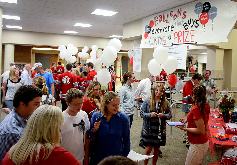 The community gets together at Bountiful High School for a open house on Wednesday. Bountiful High has recently gone through some renovations to serve a whole new generation of students. In Bountiful on On September 11 2013. (Brian Wolfer Special to the Standard-Examiner)