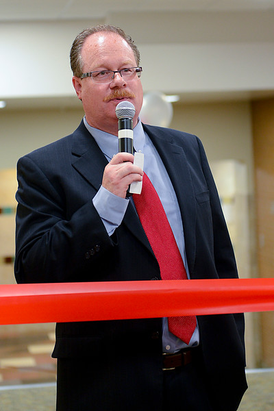 Principal Greg Wilkey Speaks to the community about the renovated high school. On September 11 2013. (Brian Wolfer Special to the Standard-Examiner)