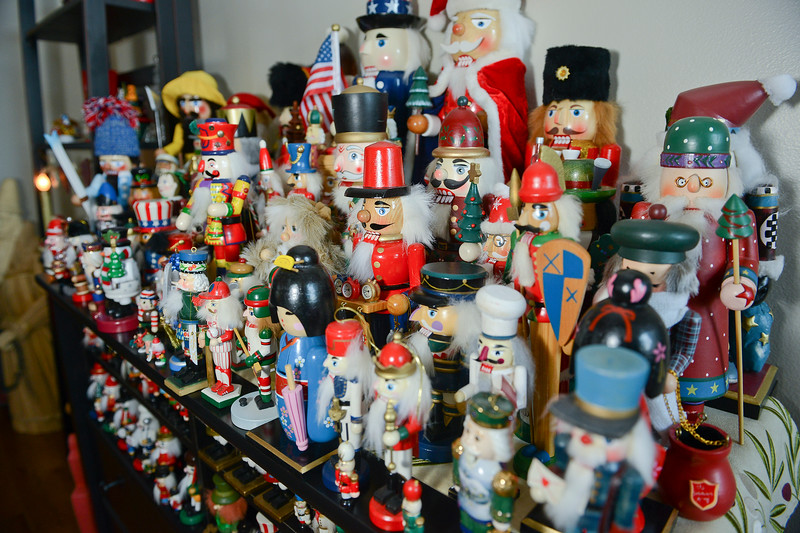 Sandy Bingham shows off her huge collection of nutcrackers. In Layton, on November 26 2013. (Brian Wolfer Special to the Standard-Examiner)