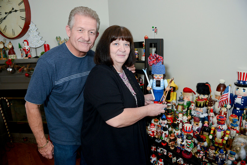 Sandy Bingham and her husbqand Kurt show off her huge collection of nutcrackers. In Layton, on November 26 2013. (Brian Wolfer Special to the Standard-Examiner)