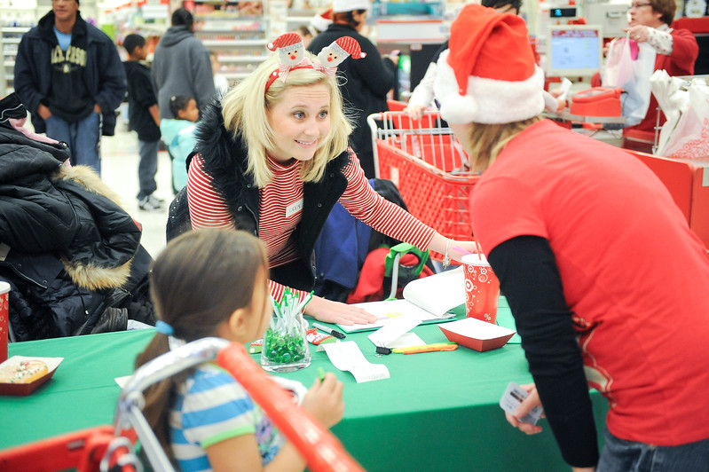 Ogden Clinic's Lexie Turner organizes even where doctors take needy kids shopping for Christmas. At Target in Riverdale. On December 7 2013.(Brian Wolfer Special to the Standard-Examiner)