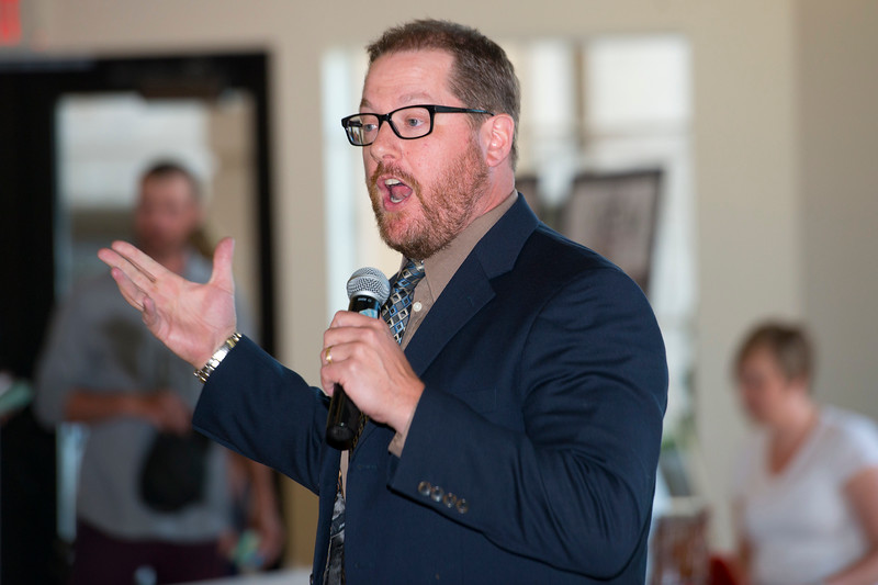 Greg Kite performs stand up comedy at the Standard-Examiner Readers' Favorite at the Grand View Reception & Event Center in Ogden on June 10, 2015.