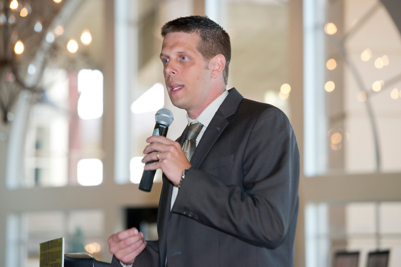 Standard-Examiner Publisher Charles Horton gives the opening speech at the Standard-Examiner Readers' Favorite event. He welcomes local businesses to have dinner and receive awards for local companies. At the Grand View Reception & Event Center in Ogden on June 10, 2015.