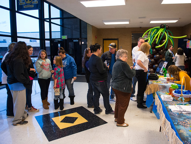 Friends and family show up for Sierra Dawn Thomas's viewing party of a new episode of the TV show Survivor. At Roy High School on February 25, 2015