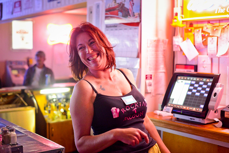 Bartender Tammy Jo Summers smiles while she takes care of her customers. Tammy recently has has a bad run of luck but her coworkers at the bar and a couple of patrons stepped in to help out. In Ogden, On September 25 2013.(Brian Wolfer Special to the Standard-Examiner)