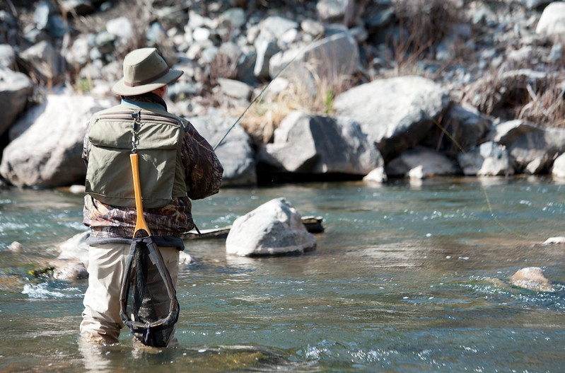 Wes Johnson and his Trout Unlimited team look to catch and tag Bonneville cutthroat trout. He and is team are looking to understand their migration through the Weber Canyon on April 11, 2015