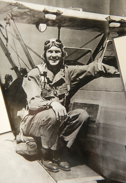 A old picture of Roy Stapp back when he was a WWII B-26 bomber pilot. In Bountiful, On January 15 2014. (Brian Wolfer Special to the Standard-Examiner)