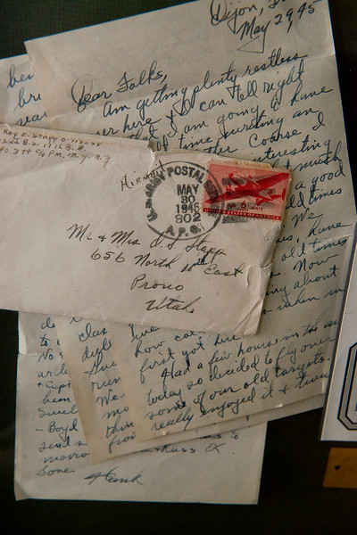 Roy Stapp keeps all his mail he written back home from WWII. In Bountiful, On January 15 2014. (Brian Wolfer Special to the Standard-Examiner)
