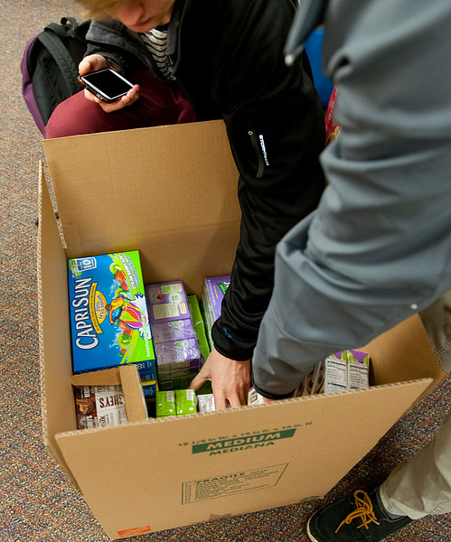 The HOSA club at Weber High is doing a service project associated with the Souper Bowl of caring. 1 in 7 children in Utah goes to bed hungry every night. At Weber High School, On February 5 2014. (Brian Wolfer Special to the Standard-Examiner)